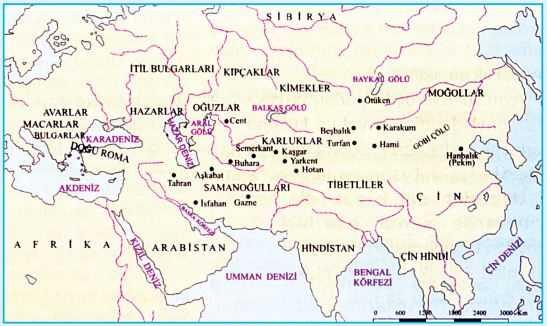 Diğer Türk Devletleri ve Toplulukları Haritası