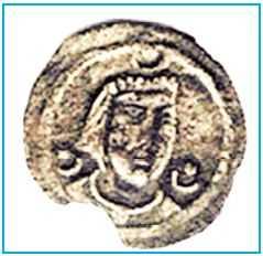 Kök Türklere ait paranın ön yüzü