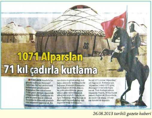 26.08.2013 tarihli gazete haberi