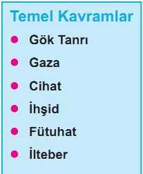 Gök Tanrı, Gaza, Cihat, İhşid, Fütuhat, İlteber