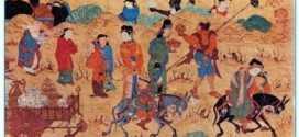 Türklerle Araplar arasındaki ticareti gösteren bir minyatür