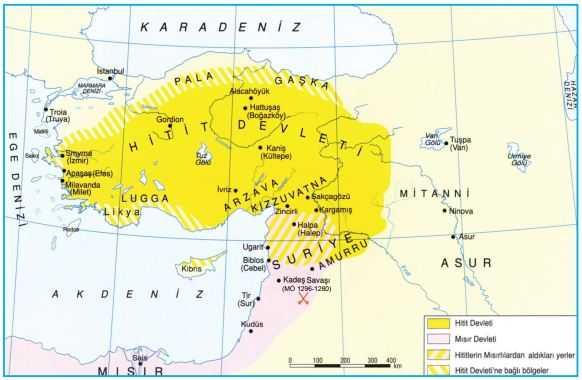 Hitit Devleti haritası