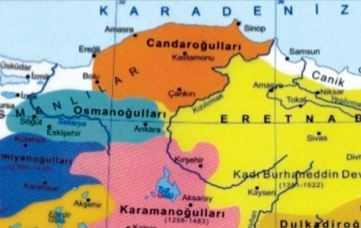 Candaroğulları Beyliği Haritası