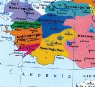 Hamitoğulları Beyliği Haritası
