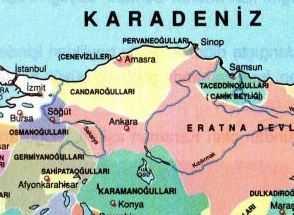 Pervaneoğulları Beyliği Haritası