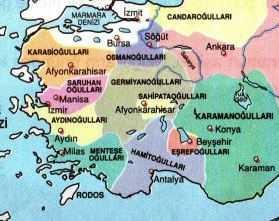 Sahib Ataoğulları Beyliği Haritası