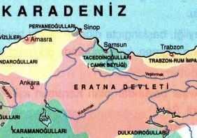 Tacettinoğulları Beyliği Haritası