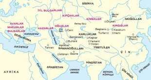 diğer türk devletleri haritası
