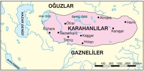 karahanlı devleti haritası
