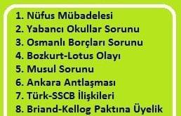 1923-1932 Dönemi Türkiye'nin Dış Politikası