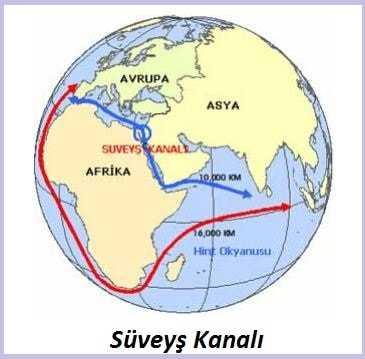 Süveyş Kanalı Haritası