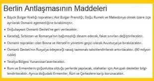 Berlin Antlaşmasının Maddeleri ve Önemi