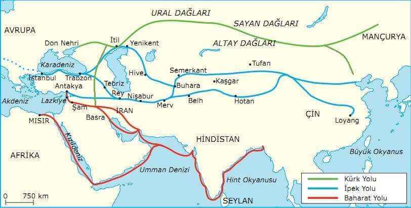 İlk ve Orta Çağda Ticaret Yolları