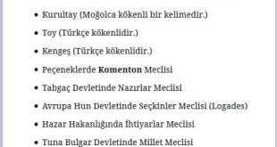 İlk Türk Devletlerinde Meclis İsimleri