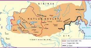 2. Kök Türk Devleti Haritası