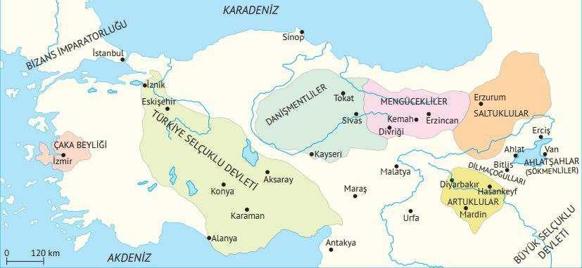 Anadolu'da Kurulan İlk Türk Beylikleri Maddeler Halinde