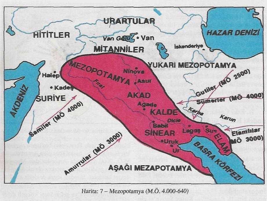 Mezopotamya Neresidir? Harita