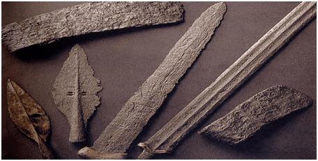 Tarih Öncesi Devirlerden demir devrine ait buluntular