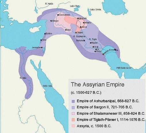 Asur İmparatorluğu haritası