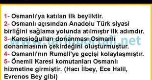 Karesioğullarının Osmanlıya Katılmasının Önemi