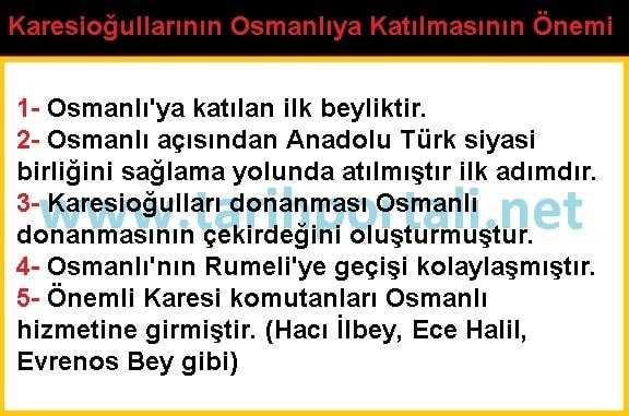 Karesi Beyliğinin Osmanlı'ya Katılmasının Faydaları