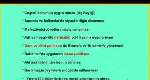 10. Sınıf Tarih Osmanlı Devletinin Kısa Sürede Büyümesinin Nedenleri