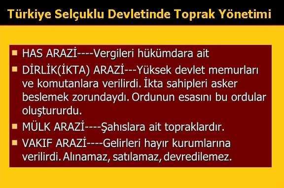 Türkiye Selçuklu Devletinde Toprak Yönetimi