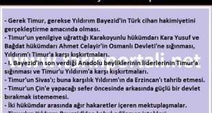 Ankara Savaşının Sebepleri madde madde