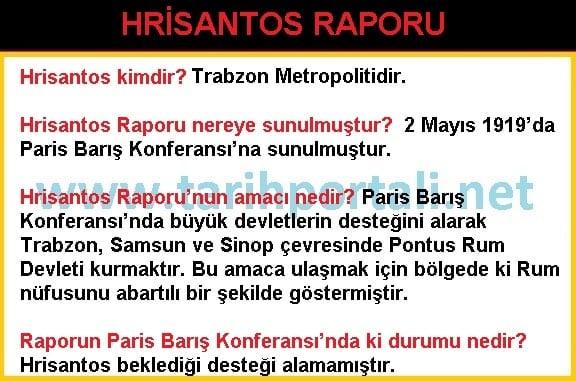 Hrisantos Raporu KPSS