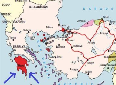 Mora Yarımadası neresidir? (Moranın Fethi)