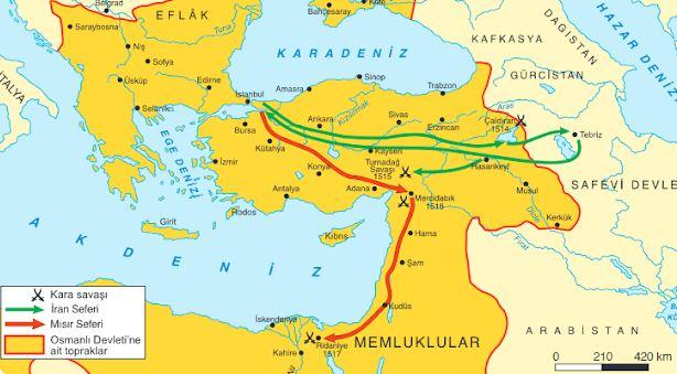 Yavuz Sultan Selim Dönemi Doğu ve Güney Seferleri