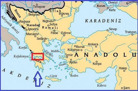 İnebahtı Deniz Savaşının yapıldığı yer