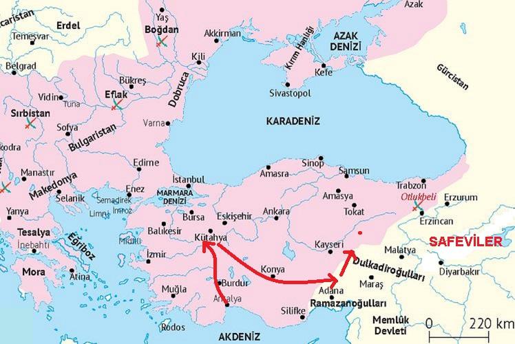 Şahkulu İsyanı Haritası