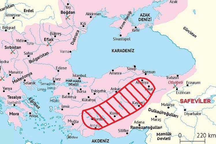 Şahkulu İsyanı Anadolu'da hangi şehirlerde etkili oldu?