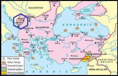 Bosna Hersekin fethi Bosna Hersek neresidir