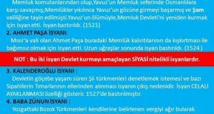 Kanuni Sultan Süleyman Dönemi İsyanları