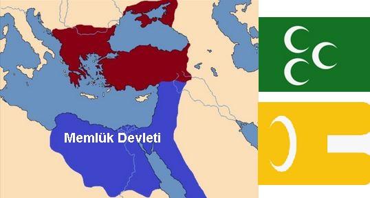 Memlük Devleti Haritası ve Bayrağı
