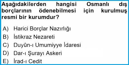 Osmanlı dış borçlarının ödenmesi için kurulmuş kurum hangisidir?