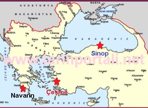 Rusların Osmanlı Donanmasını Yaktığı Yerler & Olaylar