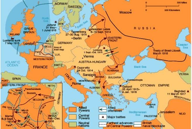 Brest Litovsk Antlaşması'nın öncesi ve sonrası