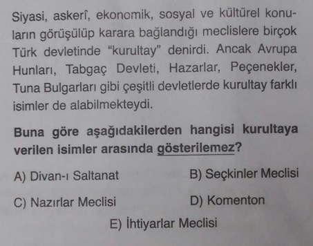 İlk Türk Devletlerinde Meclis İsimleri Komenton