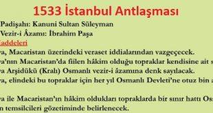 İstanbul (İbrahim Paşa) Antlaşması ve maddeleri