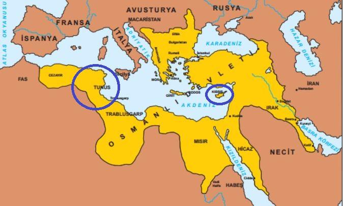 II. Selim dönemi Osmanlı haritası