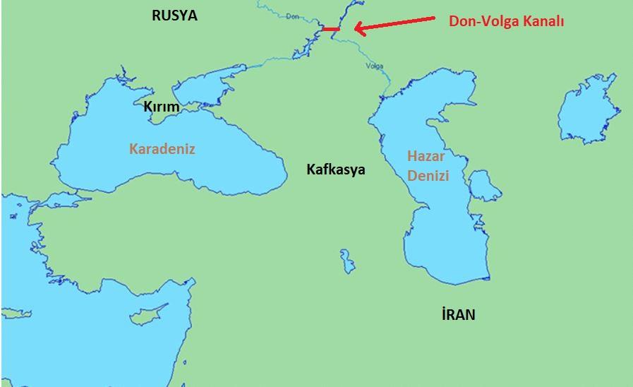Don-Volga Kanal Projesi Güzergahı