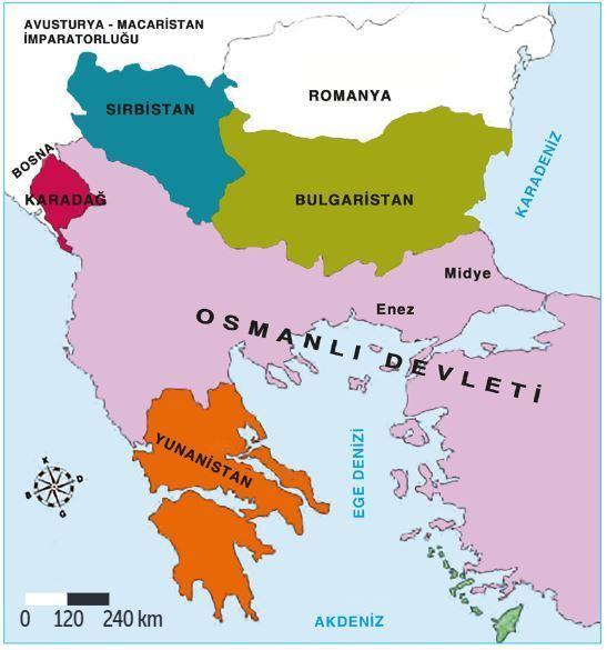 1. Balkan Savaşı Öncesi Balkanlar