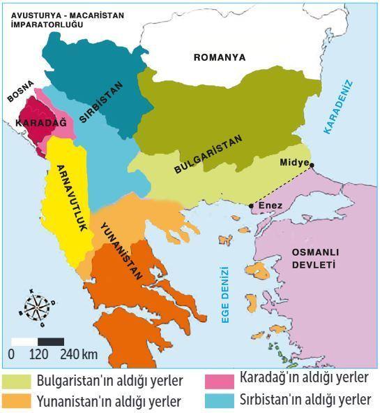 1. Balkan Savaşı Sonrası Balkanlar