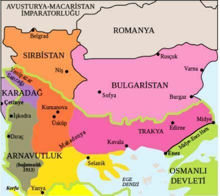 1. Balkan Savaşı'nda Kaybedilen Topraklar